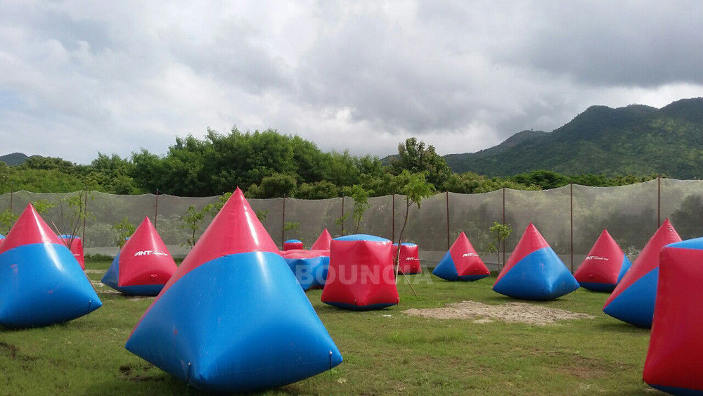0.6mm PVC Tarpaulin Inflatable Paintball Bunker Airsoft Bunker Set For Shooting Games