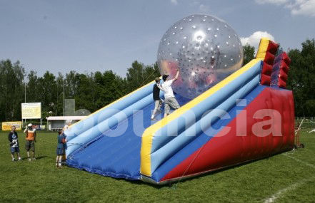 PVC Zorb Ball Racing Track , Zorb Ramp Used On Grassland Or Snow Field
