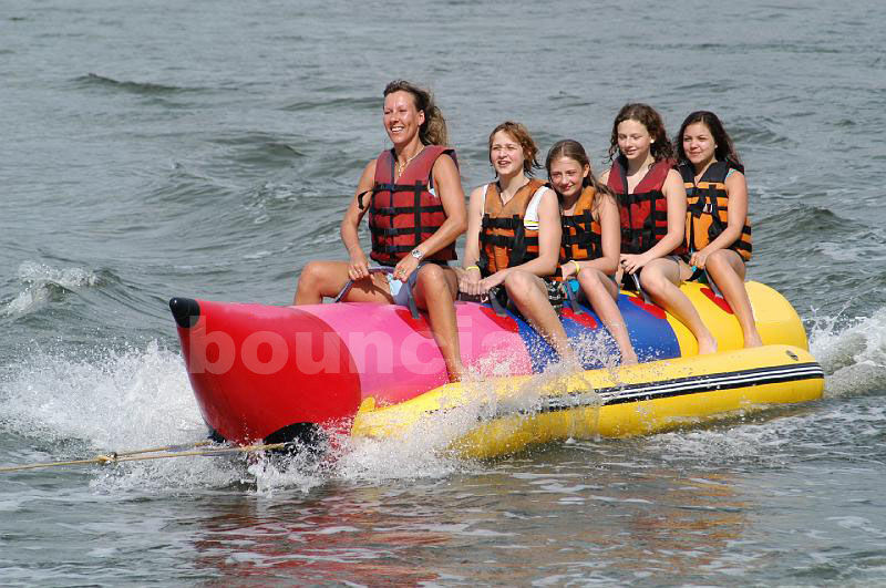 Inflatable Banana Boat For 5 Persons , Inflatable Towable Water Tube