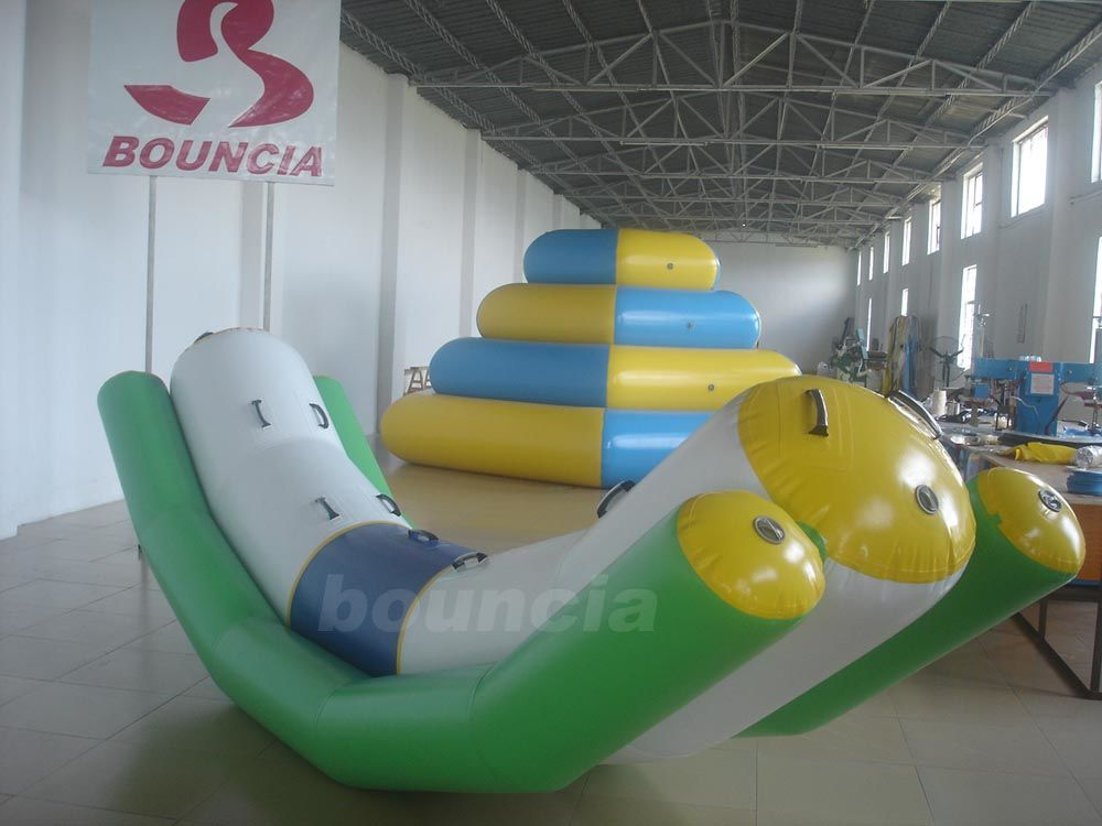 4mL*1.2mW Inflatable Floating Water Totter For Water Games