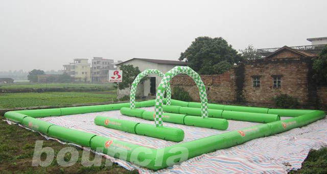 Inflatable Zorb Ball Track , Zorb Orbit With 0.6mm PVC Tarpaulin